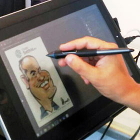 Enlarge - Caricatures for fairs and congresses