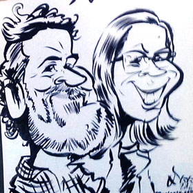 Enlarge - Caricatures for events and weddings in Málaga