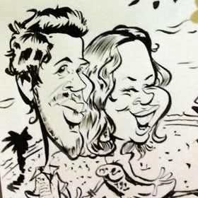 Enlarge -  Caricatures for events and weddings in Barcelona