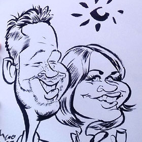 Enlarge - Caricatures for events and weddings in Sevilla